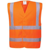 High Visibility Sleeveless Double Band and Brace Waistcoat