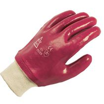 Red PVC Lightweight Gloves