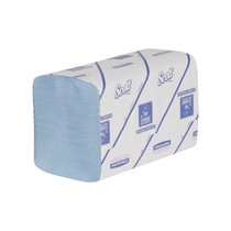 SCOTT® XTRA Hand Towels - Interfolded / Blue /Medium