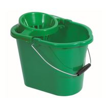 Bucket and Wringer Green 14 LItre